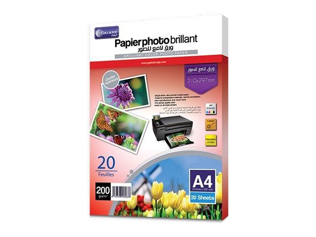 Papier photo brillant 200g A4