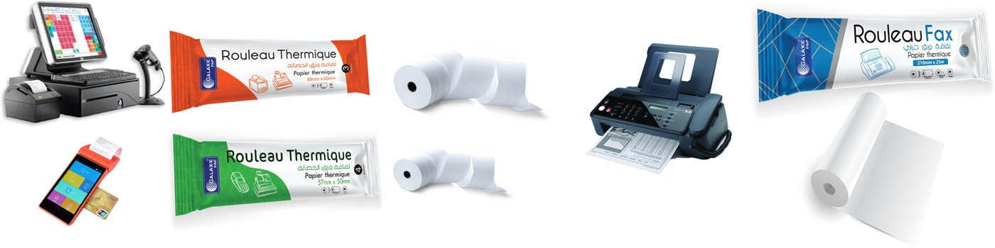 Rouleau fax thermique design